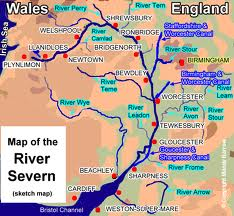 Outline Map of River Severn